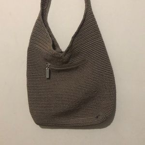 The Sak Woven Hobo Shoulder Bag Neutral FLAW